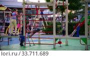Sochi, Russia - June 6. 2018. childrens holidays at the playground in Sochi Park Hotel. Редакционное видео, видеограф Володина Ольга / Фотобанк Лори