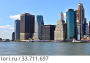 Skyscrapers of Southernmost tip of Manhattan, New York City. United States (2019 год). Стоковое фото, фотограф Валерия Попова / Фотобанк Лори
