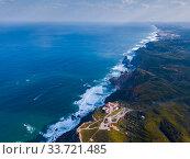 Купить «Cabo da Roca landscape with lighthouse», фото № 33721485, снято 21 апреля 2019 г. (c) Яков Филимонов / Фотобанк Лори