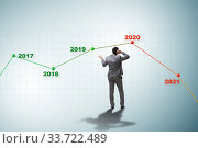 Купить «Businessman in market crash concept», фото № 33722489, снято 6 июня 2020 г. (c) Elnur / Фотобанк Лори