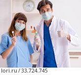 Купить «Concept of treating teeth at dentists», фото № 33724745, снято 23 июля 2018 г. (c) Elnur / Фотобанк Лори