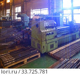 Old metalworking machine in the factory floor. Стоковое фото, фотограф Вознесенская Ольга / Фотобанк Лори