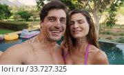 Happy Caucasian couple enjoying time together. Стоковое видео, агентство Wavebreak Media / Фотобанк Лори