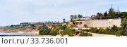 Купить «Panoramic view coastline of Cabo Roig. Costa Blanca, Spain», фото № 33736001, снято 13 марта 2020 г. (c) Alexander Tihonovs / Фотобанк Лори