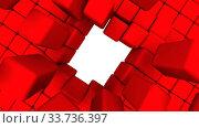 Купить «Пробоина в стене из кубиков», видеоролик № 33736397, снято 12 мая 2020 г. (c) WalDeMarus / Фотобанк Лори