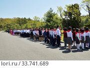 Купить «North Korean people. Mangyongdae», фото № 33741689, снято 1 мая 2019 г. (c) Знаменский Олег / Фотобанк Лори