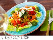 Salad of baked vegetables. Стоковое фото, фотограф Яков Филимонов / Фотобанк Лори