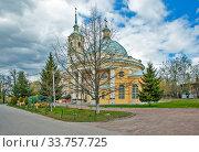 Купить «Ильинская церковь на Пороховых. Санкт-Петербург», фото № 33757725, снято 7 мая 2020 г. (c) Сергей Афанасьев / Фотобанк Лори