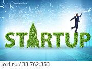 Купить «Concept of green start-up and venture capital», фото № 33762353, снято 4 августа 2020 г. (c) Elnur / Фотобанк Лори