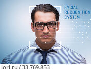 Купить «Concept of face recognition software and hardware», фото № 33769853, снято 4 июня 2020 г. (c) Elnur / Фотобанк Лори