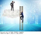 Купить «Concept of mentorship in business and career progression», фото № 33772397, снято 6 июня 2020 г. (c) Elnur / Фотобанк Лори