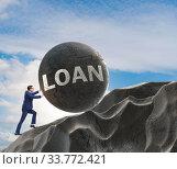 Купить «Business concept of debt and borrowing», фото № 33772421, снято 11 июля 2020 г. (c) Elnur / Фотобанк Лори