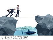 Купить «Concept of unethical business competition», фото № 33772561, снято 5 июля 2020 г. (c) Elnur / Фотобанк Лори