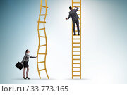 Купить «Concept of unequal career opportunities between man and woman», фото № 33773165, снято 28 мая 2020 г. (c) Elnur / Фотобанк Лори