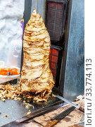 Купить «Shawarma is one of the most popular fast food», фото № 33774113, снято 10 марта 2019 г. (c) FotograFF / Фотобанк Лори