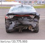 Купить «Автомобиль KIA после ДТП. Липецк.», эксклюзивное фото № 33775993, снято 18 мая 2020 г. (c) Евгений Будюкин / Фотобанк Лори