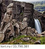 Купить «Wasserfall an der Oexi, Ostisland, Island, Europa», фото № 33790381, снято 2 июня 2020 г. (c) age Fotostock / Фотобанк Лори