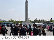 Купить «Pyongyang, North Korea. People», фото № 33794089, снято 1 мая 2019 г. (c) Знаменский Олег / Фотобанк Лори