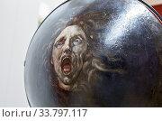 Купить «Dublin, Ireland - Feb 20th, 2020: Shield with Head of Medusa, Convex Side. Painted by unknown artist. National Gallery of Ireland.», фото № 33797117, снято 9 февраля 2020 г. (c) age Fotostock / Фотобанк Лори