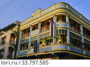Купить «India, Gujarat, Ahmedabad, Unesco World Heritage city, old city, Cadillac hotel, art-deco building.», фото № 33797585, снято 24 февраля 2020 г. (c) age Fotostock / Фотобанк Лори