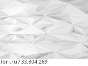 Abstract white triangulated background, low poly mesh. Стоковая иллюстрация, иллюстратор EugeneSergeev / Фотобанк Лори