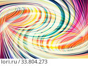 Background texture, intersected colorful spirals, 3d. Стоковая иллюстрация, иллюстратор EugeneSergeev / Фотобанк Лори