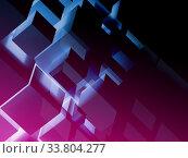 Купить «Abstract colorful cgi background, digital graphic», иллюстрация № 33804277 (c) EugeneSergeev / Фотобанк Лори