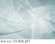 Digital graphic background with wire-frame structure 3 d. Стоковая иллюстрация, иллюстратор EugeneSergeev / Фотобанк Лори