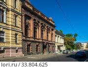 Купить «Palace of Count Tolstoy or House of Scientists in Odessa, Ukraine», фото № 33804625, снято 3 мая 2020 г. (c) Sergii Zarev / Фотобанк Лори