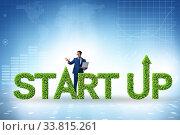 Купить «Concept of green start-up and venture capital», фото № 33815261, снято 4 августа 2020 г. (c) Elnur / Фотобанк Лори