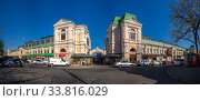 Купить «Old historical building of the New Bazaar in Odessa, Ukraine», фото № 33816029, снято 28 апреля 2020 г. (c) Sergii Zarev / Фотобанк Лори