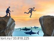 Купить «Concept of unethical business competition», фото № 33818225, снято 5 июля 2020 г. (c) Elnur / Фотобанк Лори