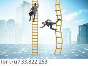 Купить «Career competition in business environment», фото № 33822253, снято 29 мая 2020 г. (c) Elnur / Фотобанк Лори
