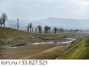 Купить «North Korea. Countryside scenery», фото № 33827521, снято 30 апреля 2019 г. (c) Знаменский Олег / Фотобанк Лори