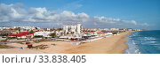 Купить «Aerial panoramic photo coastline of Costa Blanca, Spain», фото № 33838405, снято 15 марта 2020 г. (c) Alexander Tihonovs / Фотобанк Лори
