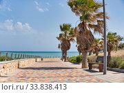 Купить «Pilar de la Horadada empty promenade. Costa Blanca, Spain», фото № 33838413, снято 8 мая 2020 г. (c) Alexander Tihonovs / Фотобанк Лори