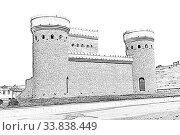Купить «Fortress of the ancient city of Shemakha. Republic of Azerbaijan», иллюстрация № 33838449 (c) Евгений Ткачёв / Фотобанк Лори