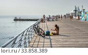 Купить «Langeron Beach in Odessa, Ukraine», фото № 33858389, снято 3 сентября 2019 г. (c) Sergii Zarev / Фотобанк Лори