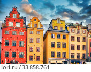 Big Square in the Old Town of Stockholm. Стоковое фото, фотограф Sergey Borisov / Фотобанк Лори