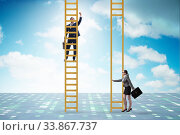 Купить «Concept of unequal career opportunities between man and woman», фото № 33867737, снято 29 мая 2020 г. (c) Elnur / Фотобанк Лори