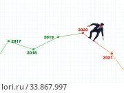 Купить «Businessman in market crash concept», фото № 33867997, снято 5 июня 2020 г. (c) Elnur / Фотобанк Лори
