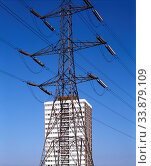 Pylon, Tower Block, Stratford, Newham, London, England. Стоковое фото, фотограф Alex Bartel / age Fotostock / Фотобанк Лори