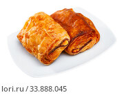 Napolitana with meat and cheese filling. Стоковое фото, фотограф Яков Филимонов / Фотобанк Лори