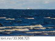 Штормовые волны на море. Летний ветер. Стоковое фото, фотограф Яковлев Сергей / Фотобанк Лори