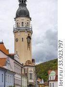 Old town Bilina, Usti nad Labem Region, Czech Republic. Стоковое фото, фотограф Richard Semik / easy Fotostock / Фотобанк Лори