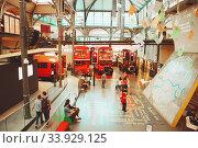 Купить «LONDON - AUGUST 22, 2017: Old double decker buses in London Transport Museum, the UK. This is an exhibition of the London Transport», фото № 33929125, снято 22 августа 2017 г. (c) Nataliia Zhekova / Фотобанк Лори