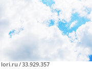Купить «Sky clouds», фото № 33929357, снято 21 мая 2017 г. (c) Nataliia Zhekova / Фотобанк Лори
