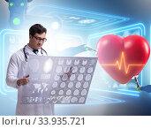 Купить «Telemedicine concept with remote monitoring of heart condition», фото № 33935721, снято 14 июля 2020 г. (c) Elnur / Фотобанк Лори