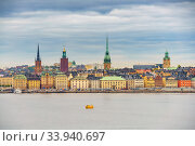 Panorama of the Old Town Stockholm. Стоковое фото, фотограф Sergey Borisov / Фотобанк Лори