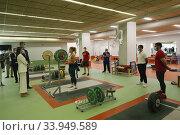 Купить «King Felipe VI of Spain, Queen Letizia of Spain visit High Performance Center (CAR) at Consejo Superior de Deportes Facilities on June 8, 2020 in Madrid, Spain», фото № 33949589, снято 8 июня 2020 г. (c) age Fotostock / Фотобанк Лори